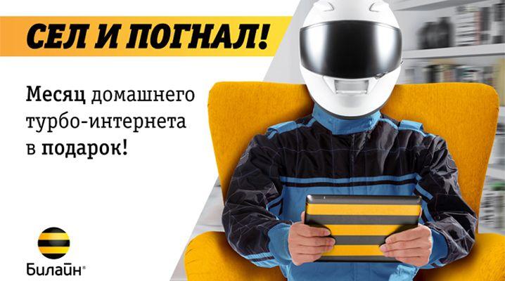 Месяц в подарок при подключении домашнего интернета Билайн в Архангельске, Северодвинске и Новодвинс