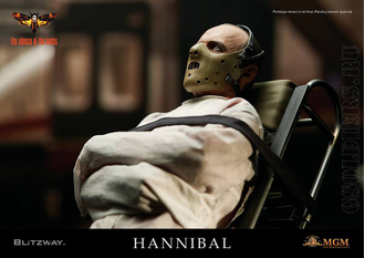 Ганнибал Лектер - Коллекционная фигурка 1/6 Hannibal Lecter Straitjacket ver. Sixth Scale Collectible Figure (BW-UMS10302) - BLITZWAY