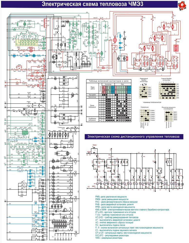 Картинки электрической схем тепловозов