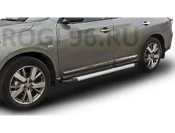 Пороги на Nissan Pathfinder R52 (2014-…) Optima Silver