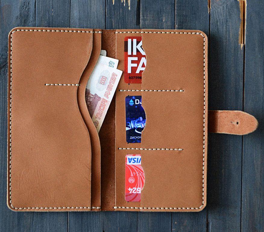 b4e5fe9e456f Кожаное портмоне ручной работы с доставкой по России