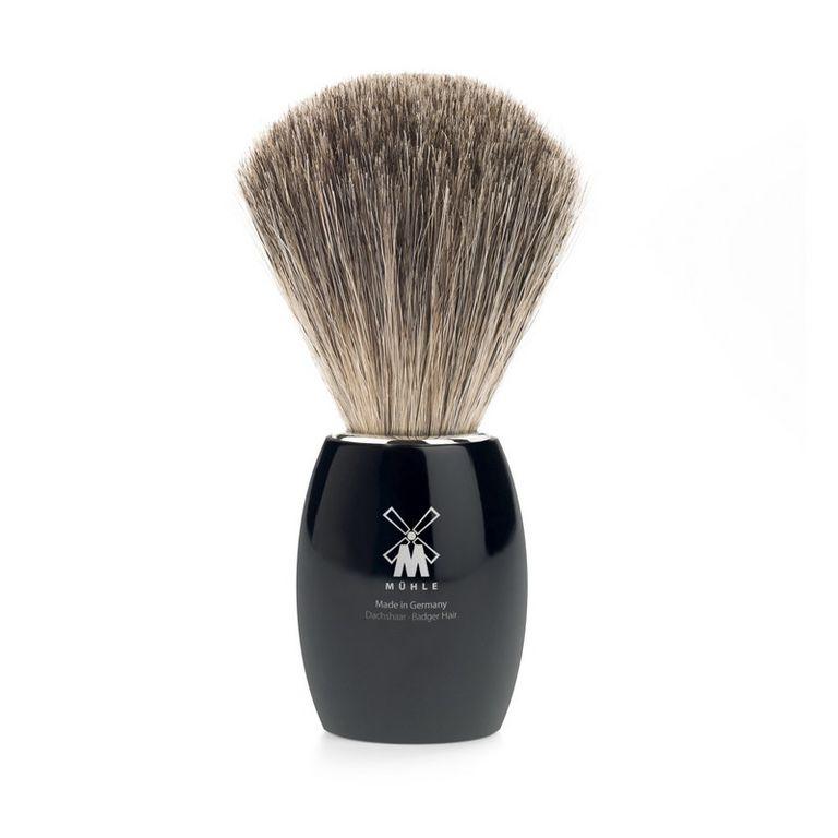 Помазок Muehle Modern, натуральный барсучий ворс, черная смола