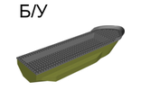 ! Б/У - Boat, Hull Unitary 51 x 12 x 6 with Side Bulges, Base with Dark Bluish Gray Boat Hull Unitary 51 x 12 x 6, Top 62791 / 54101, Olive Green (62791c01 / 6018157) - Б/У