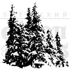 Штамп для скрапбукинга Ели в снегу