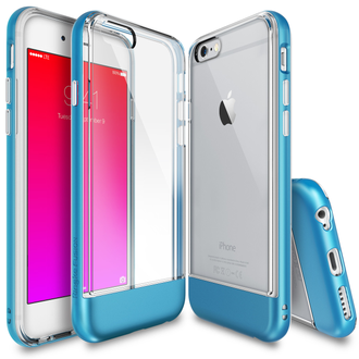 Чехол на Apple iPhone 6 и 6S, Ringke серия Fusion Frame, цвет синий (Ocean Blue)