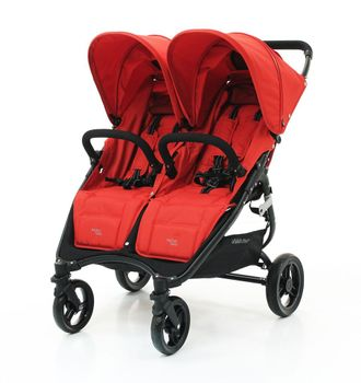 Коляска прогулка для двойни Valco Baby Snap Duo Fire Red