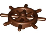 Boat, Ships Wheel with Slotted Pin, Reddish Brown (4790b / 4548857 / 6278548)