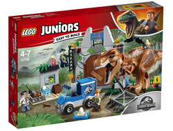 LEGO Juniors Jurassic World Конструктор Побег Ти-Рекса, 10758