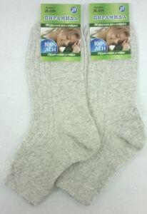 Пирамида носки женские медицинские Ж-019 100% лен ослабленная резинка, 10 пар (1 упаковка)