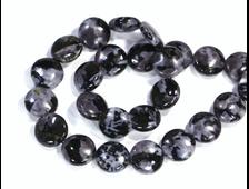 Бусина Габбро, круглая плашка 15*6 мм (1 шт) №17287