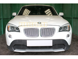 Защита радиатора BMW X1 I E84 2009-2012 (3D) chrome PREMIUM
