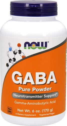 (NOW) GABA Pure Powder - (170 гр)