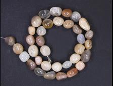 Бусина Лунный камень, галтовка 8-10 мм (1 шт) №17500