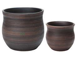Цветочное кашпо SIA SUNTAN FLOWER POT SMALL S/2 , 280105 , H25/18 D28/20