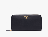Prada Metallic Gold Wallet Black