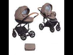 Универсальная коляска Tutis Mimi Style (2 в 1) Цвет Бежевый жаккард/Кожа бежевая