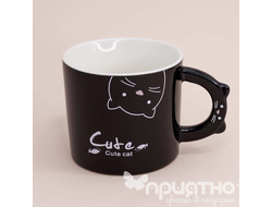 "Кружка ""Love you Cat"", black (325ml)"