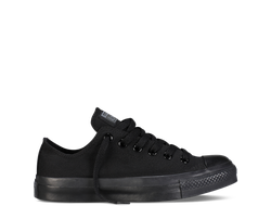 Черные низкие кеды CONVERSE MONOCHROME ALL STAR BLACK - M5039 фото