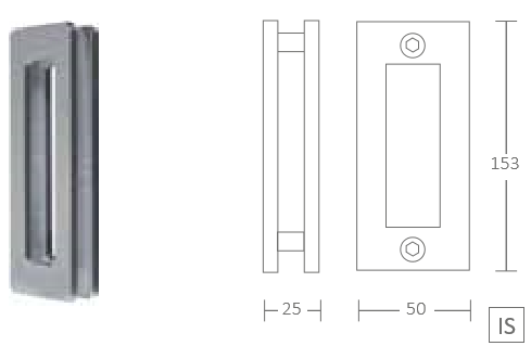 ручки купэ 16530 ручка купе накладная прямоугольной формы из