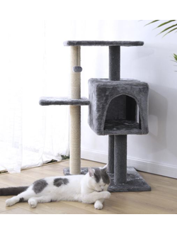 Домик для кошек с когтеточкой Xiaomi Little Beast Star three-tier soft box cat climbing frame