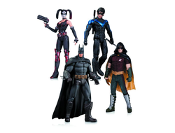 Аркхэм Сити. Бэтмен, НайтВинг, Харли Квин и Робин / Arkham City: Harley Quinn, Batman, Nightwing, & Robin Action Figure 4-Pack