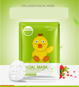 Коллагеновая маска с экстрактом граната BIOAQUA Animal Facial Mask Collagen