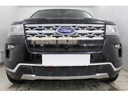 Защита радиатора Ford Explorer 2018- black низ