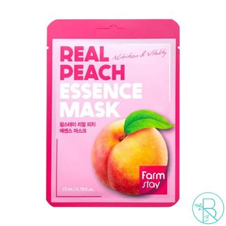 Маска тканевая Farmstay Real Peach Essence Mask с экстрактом персика