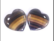 Сердце Флюорит в ассортименте, ЮАР (50*48*10 мм, 46 г) №15955