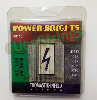 Thomastik PB110 Power-Brights Regular Bottom 10-45