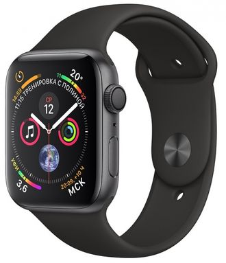 Apple Watch Series 4 40mm Space Gray with Black Sport Band - под заказ 1-2 дня