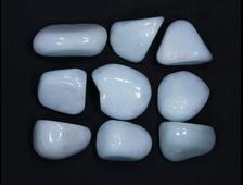 Арагонит голубой, галтовка в ассортименте, Китай (20-25 мм, 7-9 г) №15793