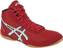 Борцовки asics maflex 5 fiery red/white/black J504N-2301 wrestling shoes обувь для борьбы