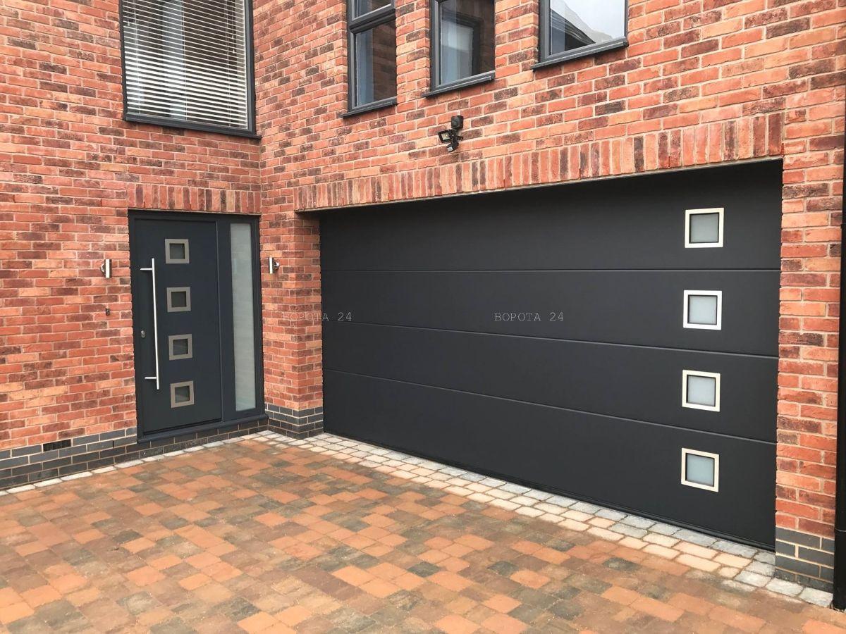 Алюминиевые уличные двери и ворота для гаража - заказать изготовление Днепр