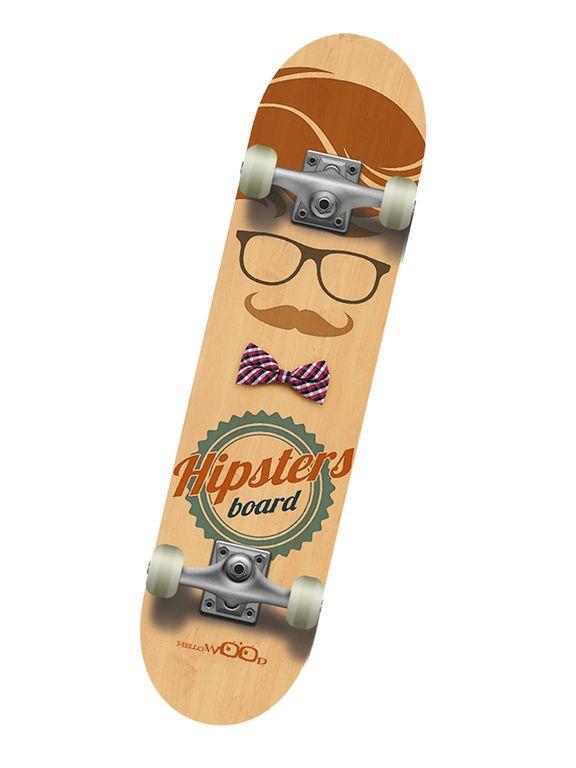 Профессиональный скейтборд Hello Wood HIPSTER