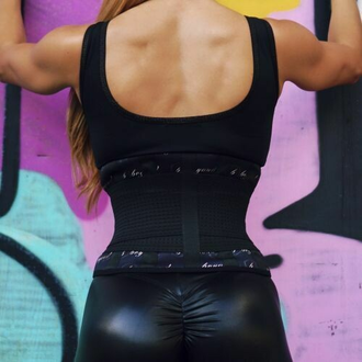 Корсетный пояс neoprene Black - Gold WAISTTRAINER