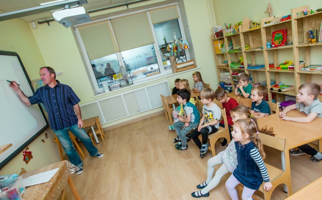 children learning languages photo