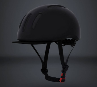 Шлем Xiaomi QiCycle urban bicycling  helmet черный, красный