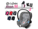 Cybex Aton M  Pepper Black