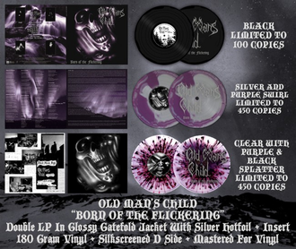 Old Man's Child - Born Of The Flickering 2-LP swirl