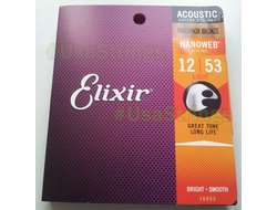 Elixir 12-53 16052 Nanoweb Phosphor Bronze Light