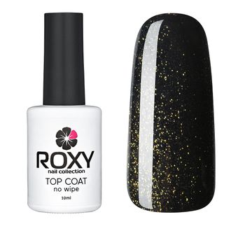 Топ без липкого слоя с шиммером - TOP COAT no wipe Т01 shine (10 ml)