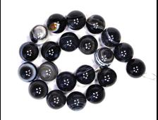 Бусины Агат черный, шар 12 мм