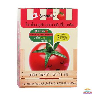 Ночная маска с глютамином Tomato Gluta Aura Sleeping Mask (Smooto) 6 шт по 10 гр