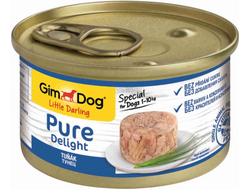 Консервы для собак Gimdog Pure Delight из тунца 85 грамм