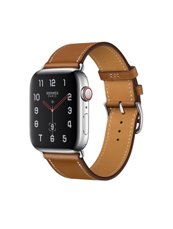 Купить Apple Watch Hermès S4 44мм with fauve barenia leather single tour в iStore-Moscow