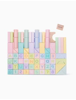 Детский конструктор Xiaomi BEVA 80 pieces of color puzzle building blocks basic models