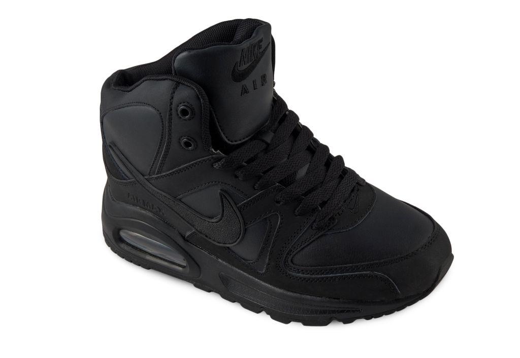 cd59ba2b5 Nike Air Max Skyline Высокие Черные, кожа/искусств.мех (41-45) Арт: 011F