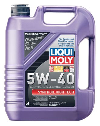 МАСЛО МОТОРНОЕ LIQUI MOLY SYNTHOIL HIGH TECH 5W40 5Л. СИН. КОД 1925
