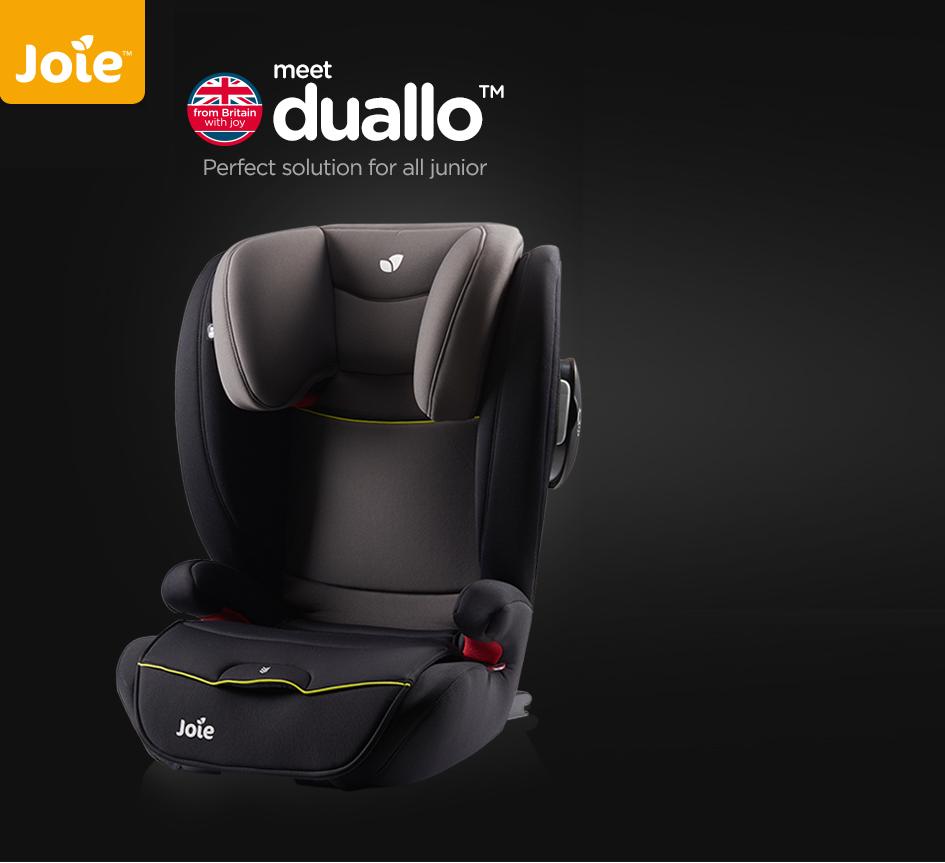 Автокресло Joie Duallo Guard Surround Safety™ обеспечивает безопасность ребенка от головы до бед